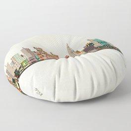 columbus skyline Floor Pillow