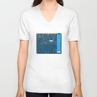 labyrinth V-neck T-shirts featuring Labyrinth by Stoian Hitrov - Sto