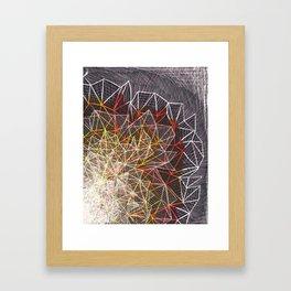 R/Y Burst Framed Art Print