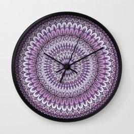 Lavender Petals Wall Clock