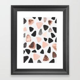 Rounded Triangles Framed Art Print