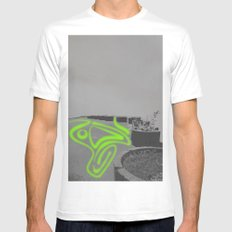 Endless Beds(1) White Mens Fitted Tee MEDIUM