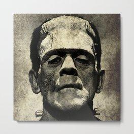 Frankenstein Grunge Metal Print