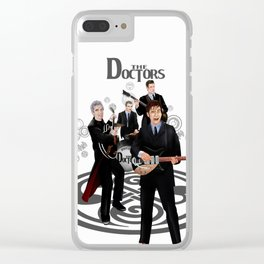 The Doctor who Renunion BAND iPhone 4 4s 5 5c 6 7, pillow case, mugs and tshirt Clear iPhone Case