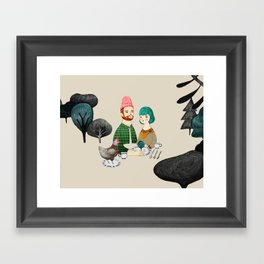 The Gracious Meal Framed Art Print