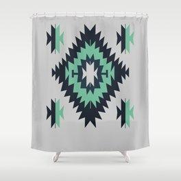 Santa Fe Southwestern Native Indian Tribal Geometric Pattern Shower Curtain