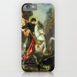 """Gustave Moreau """"St. George and the Dragon (1889)"""" iPhone Case"""