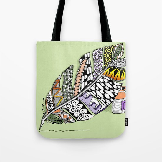 Zentangle Pen and Ink Illustration Tote Bag