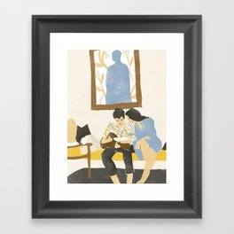 You and me and the music Framed Art Print
