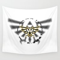 triforce Wall Tapestries featuring Triforce by Otis Zanzibar