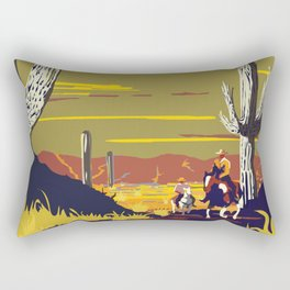 National Parks 2050: Sagauro Rectangular Pillow