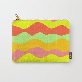 warm colorful waves decorative design Carry-All Pouch