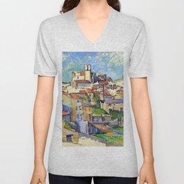 Paul Cezanne Gardanne Unisex V-Neck
