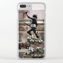 Richard The Third Re Burial Clear iPhone Case