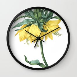 HIGHEST QUALITY botanical poster of Crown Imperial Wall Clock