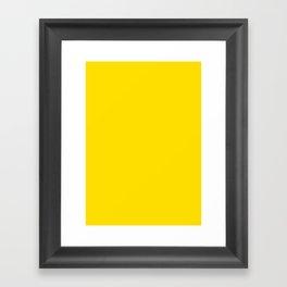 Yellow (Crayola) Framed Art Print