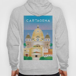 Cartagena, Columbia - Skyline Illustration by Loose Petals Hoody