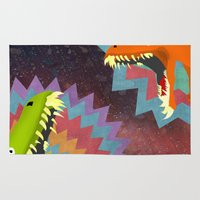 dinosaurs Area & Throw Rugs featuring DINOSAURS by Cody Weber