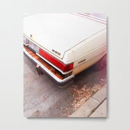 Vintage Buick Car Corner, Retro Light Leak Metal Print