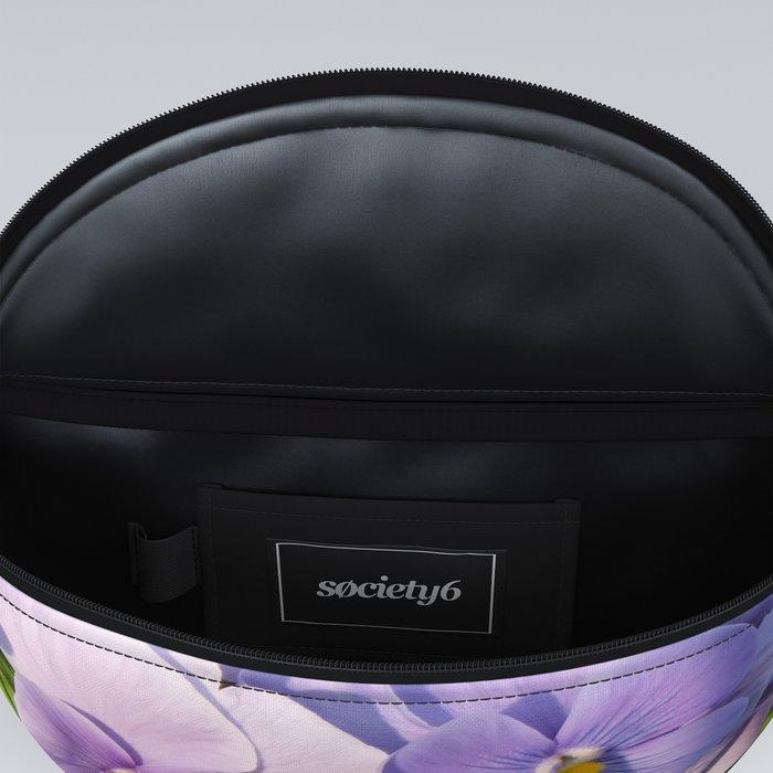 Purple viola in sunlight Fanny Pack