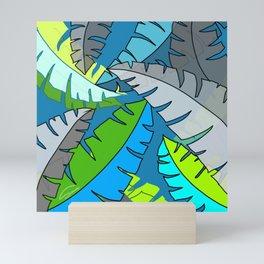 Leaves in Blue Mini Art Print
