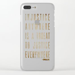 Martin Luther King Typography Quotes Clear iPhone Case