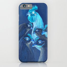 Henpecked In Blue iPhone Case