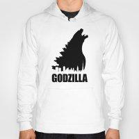godzilla Hoodies featuring Godzilla by Nick Kemp