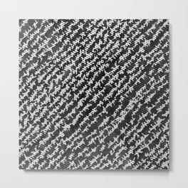 Modern Black White Popular Trendy Abstract Pattern Metal Print