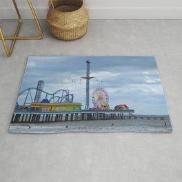 Pleasure Pier - Galveston Texas Rug