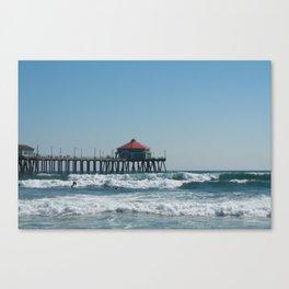 Huntington Beach Life Canvas Print