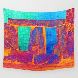 Stonehenge Meets Pop Art Wall Tapestry