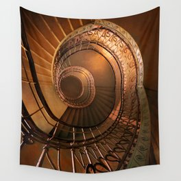 Golden spiral stairs Wall Tapestry