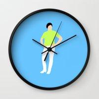 will ferrell Wall Clocks featuring Will Ferrell Tight Pants by cslim