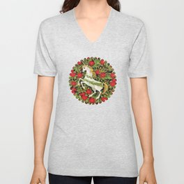 Christmas Unicorn Unisex V-Neck