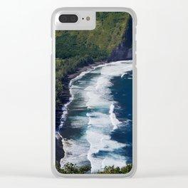 Waipio Valley Beach Clear iPhone Case