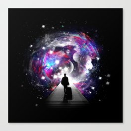 Space Traveler-Surreal Space Poster Canvas Print