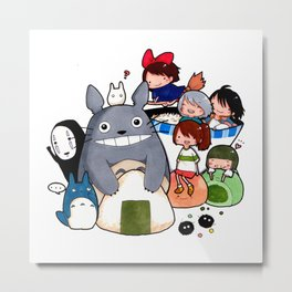 funny ghibli full colour Metal Print