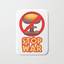 STOP WAR No Bomb Sign Bath Mat