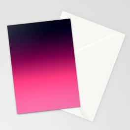 Eggplant Purple Pink Ombre Gradient Stationery Cards
