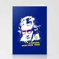 beethoven Stationery Cards featuring Beethoven Hippie by Maldita Novena