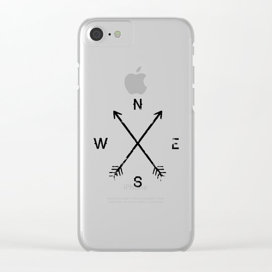 Compass (Natural) Clear iPhone Case
