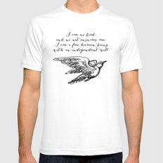 Jane Eyre - I am no bird - Charlotte Bronte Mens Fitted Tee White SMALL