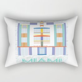 Miami Landmarks - The Berkeley Shore Rectangular Pillow