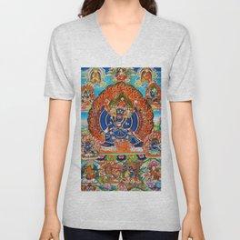 Tantric Buddhist Vajrabhairava Deity 3 Unisex V-Neck