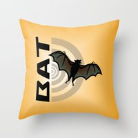 bat Throw Pillows featuring BAT by BATKEI
