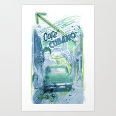 Cafe Cubano Art Print