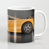 f1 Mugs featuring McLaren F1 LM by vsixdesign