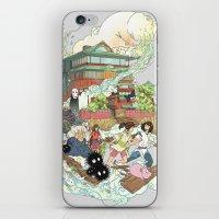 chihiro iPhone & iPod Skins featuring Chihiro by Alba Palacio