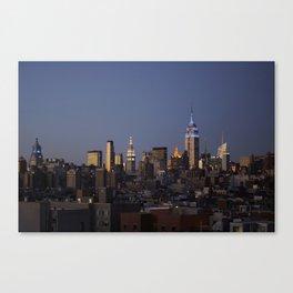 Evening Skyline - NYC Canvas Print